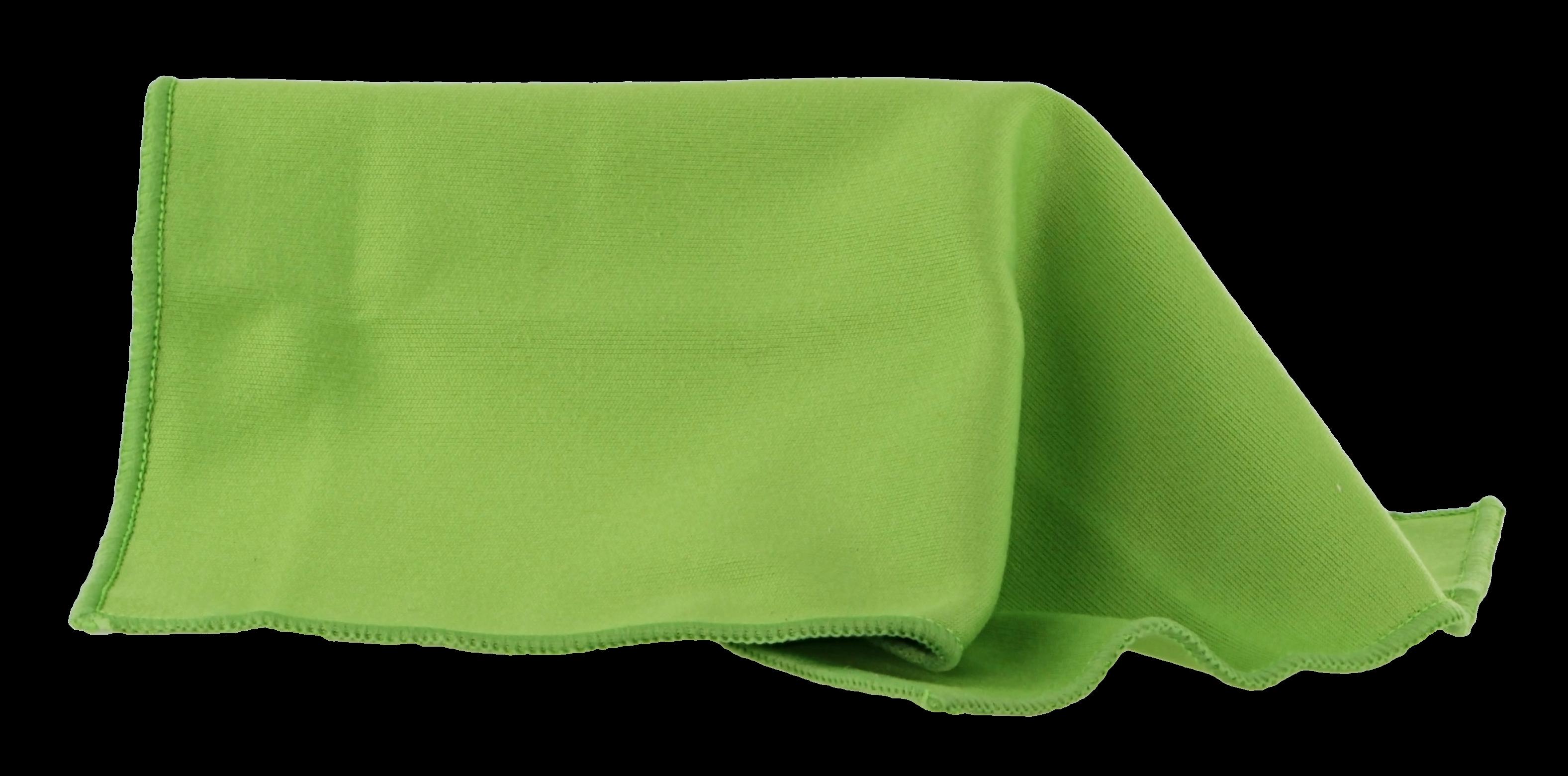 Brillenputztuch grün