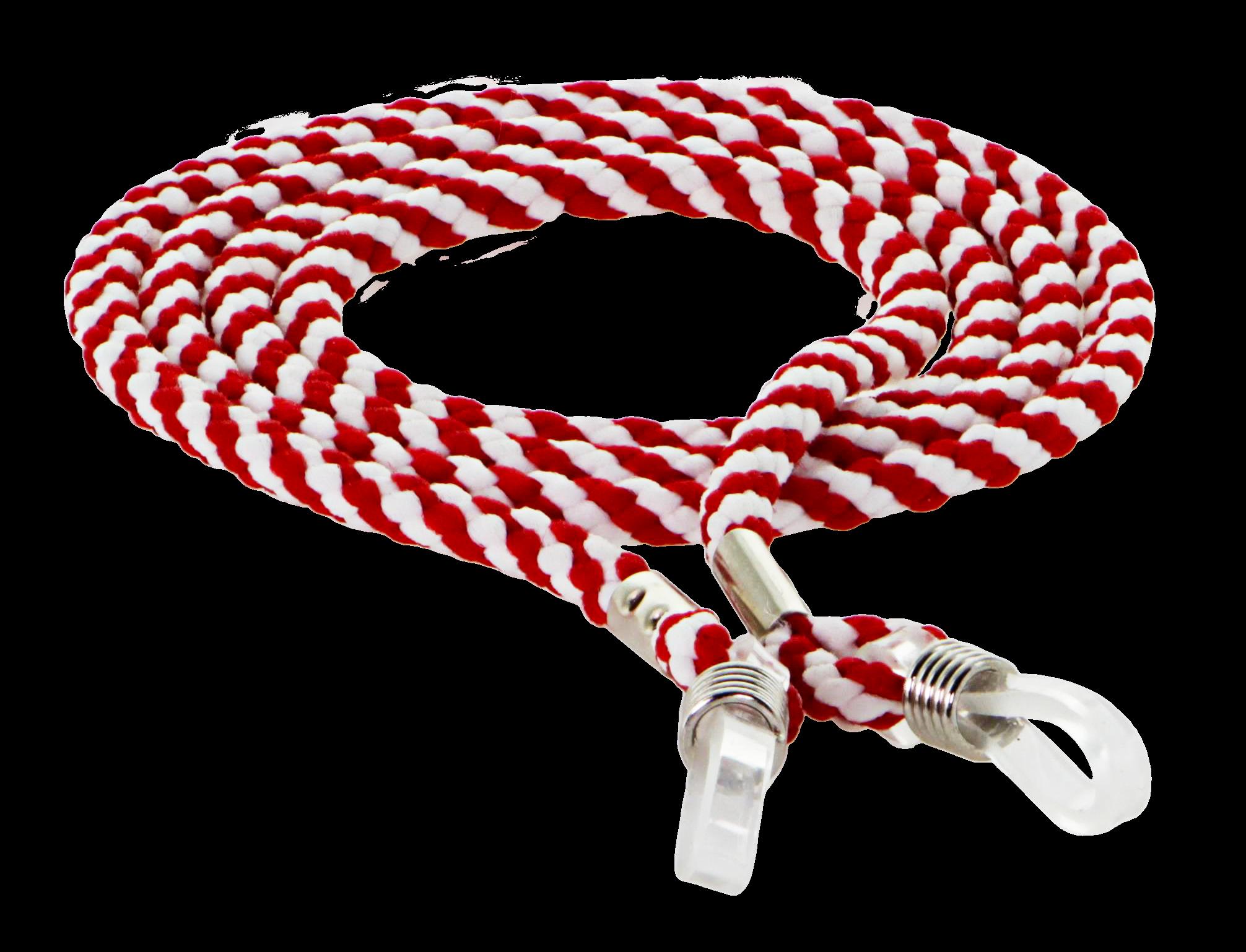 Brillenband rot/weiß