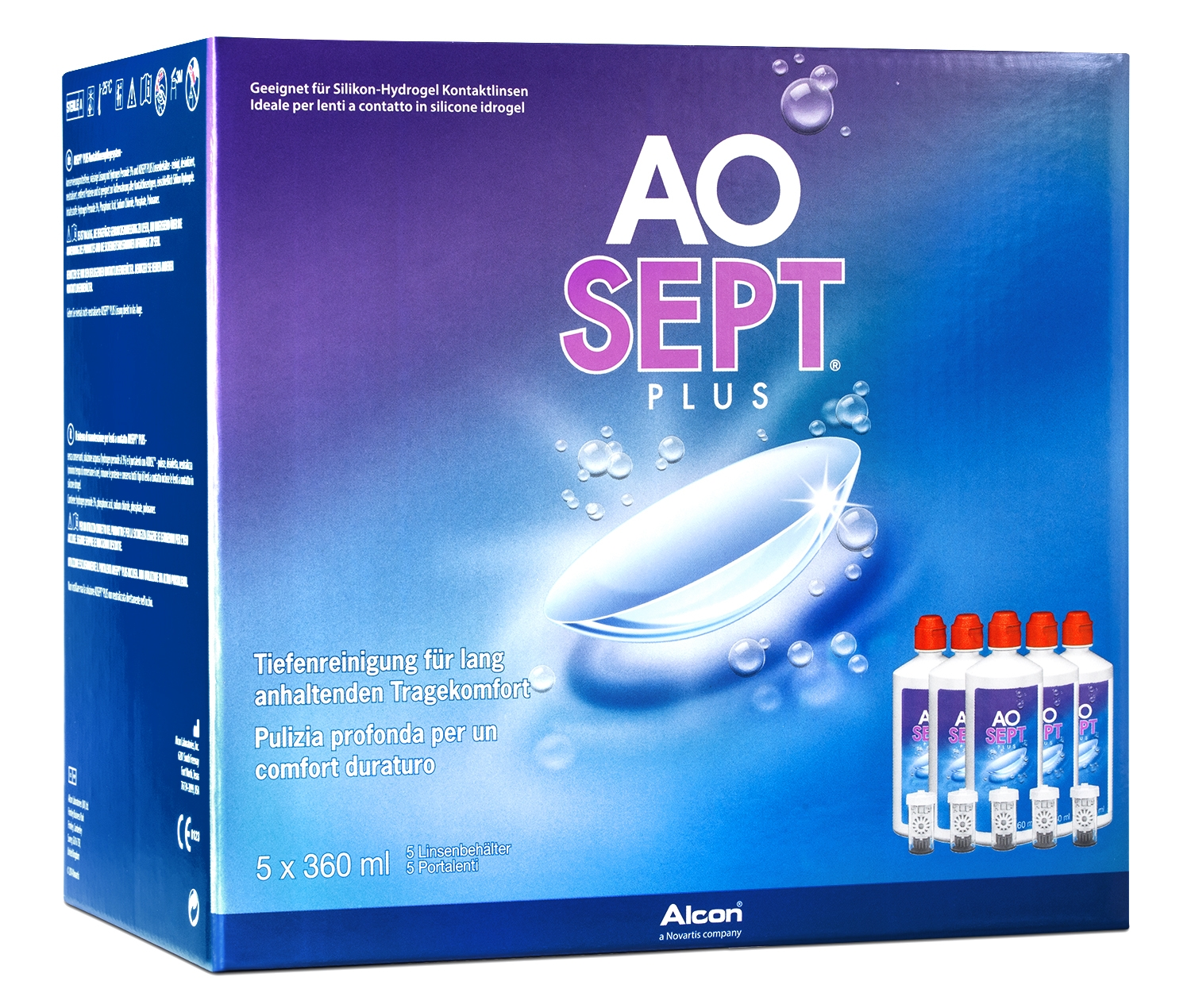 AOSEPT Plus Sparpack, Alcon (5 x 360 ml)