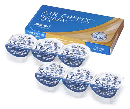 Air Optix Night & Day Aqua, Alcon (6 Stk.)