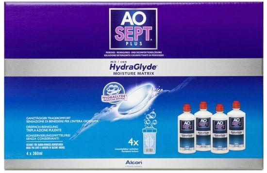 AOSEPT Hydraglyde Systempack, Alcon (4 x 360 ml)