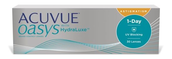 Acuvue Oasys 1-Day for Astigmatism with HydraLuxe, Johnson & Johnson (30 Stk.)