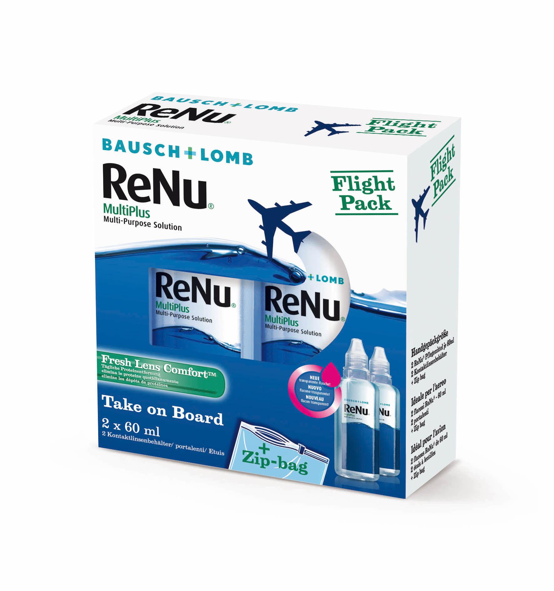 ReNu MultiPlus Flightpack, Bausch & Lomb (2 x 60 ml)