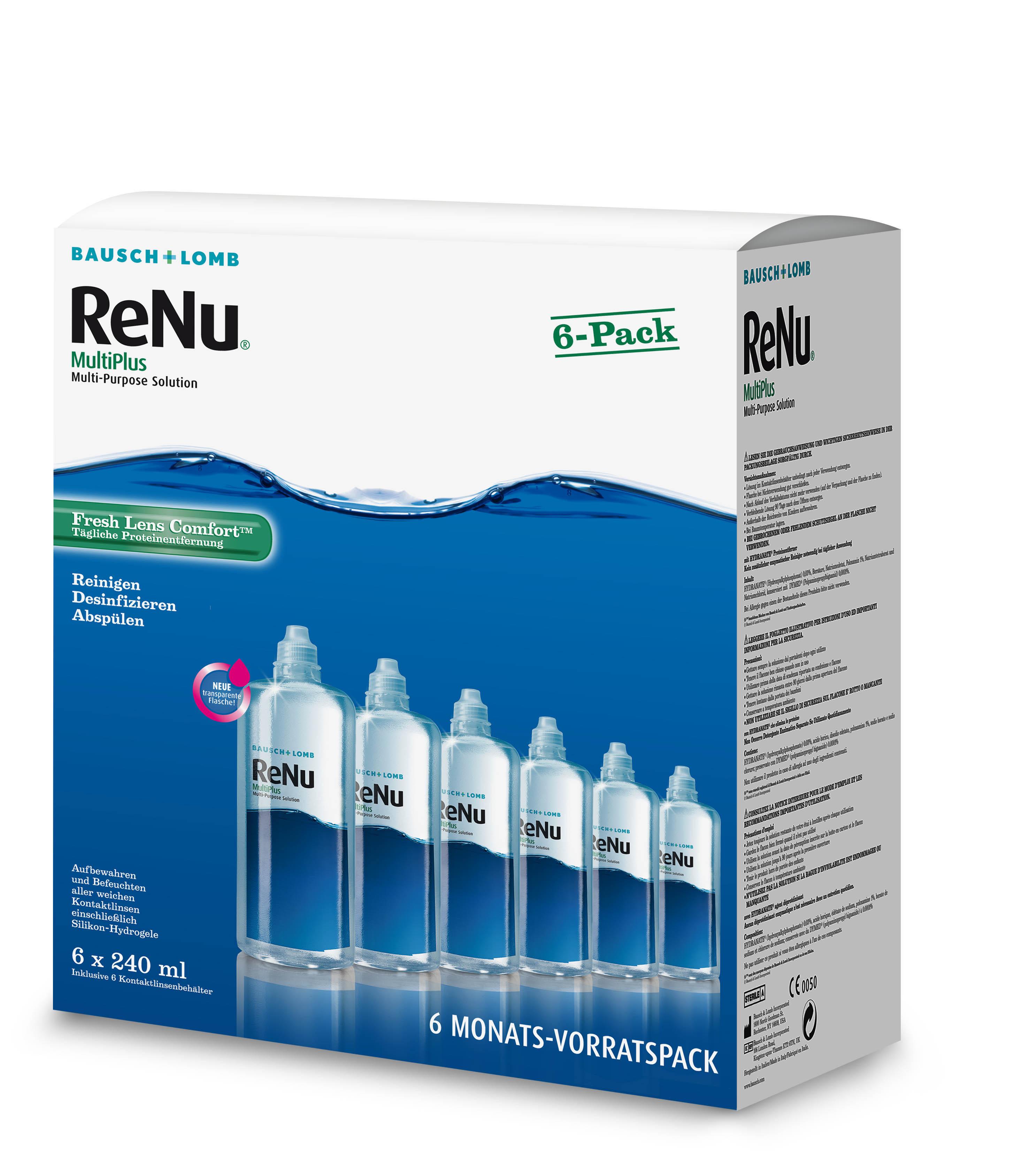 ReNu MultiPlus 6 Monatspackung, Bausch & Lomb (6 x 240 ml)