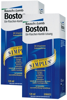 2 x Boston Simplus, Bausch & Lomb (2 x 120 ml)