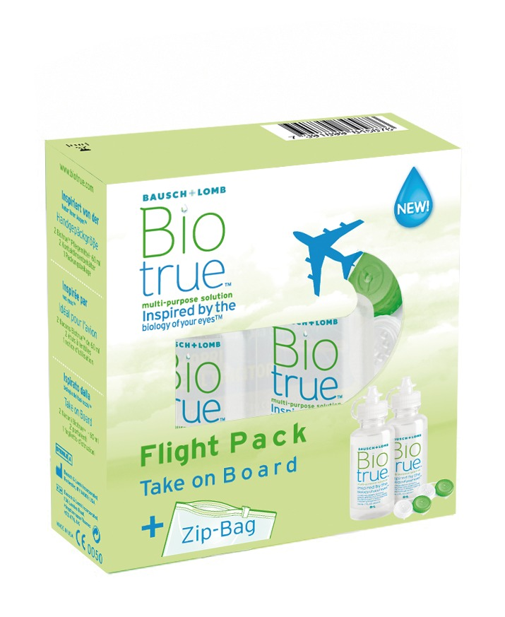 Biotrue Flight Pack, Bausch & Lomb (2 x 60 ml)