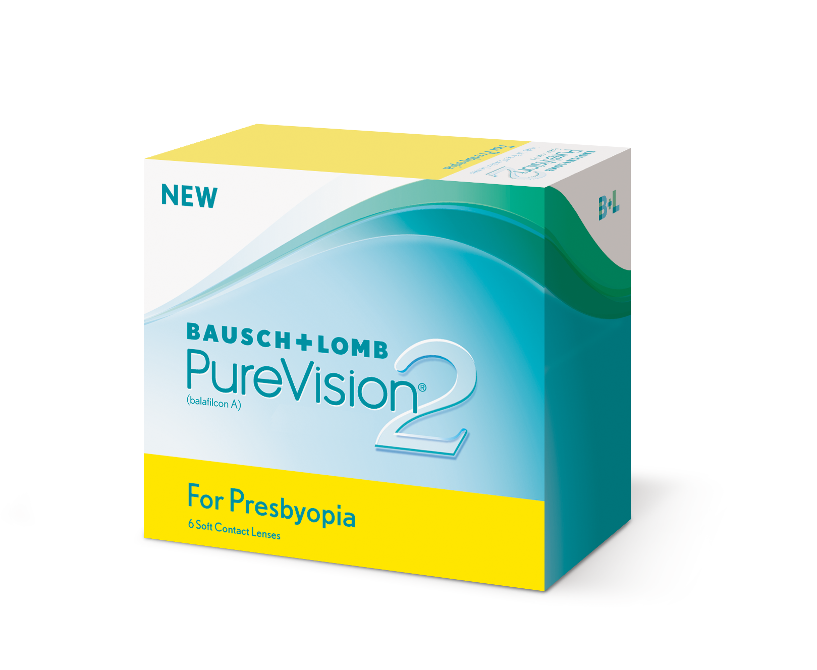 Pure Vision 2 for Presbyopia, B&L (6 Stk.) + Pflegemittel